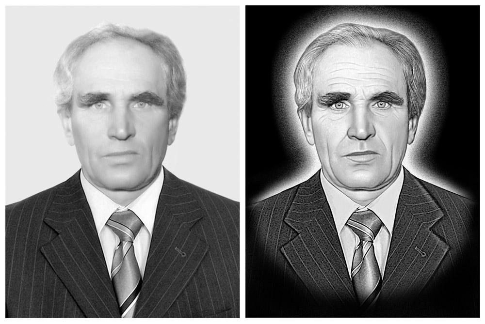 Как за портретом сделать белый фон